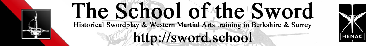 The School of the Sword Sticky Logo