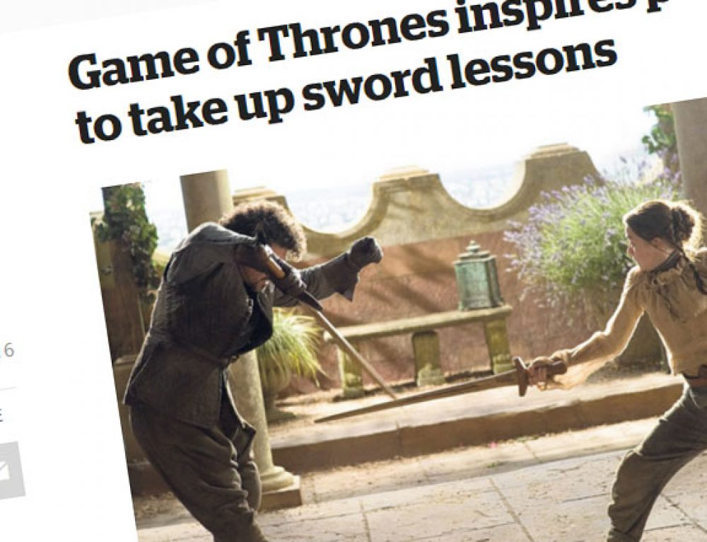 School of the Sword In National Press