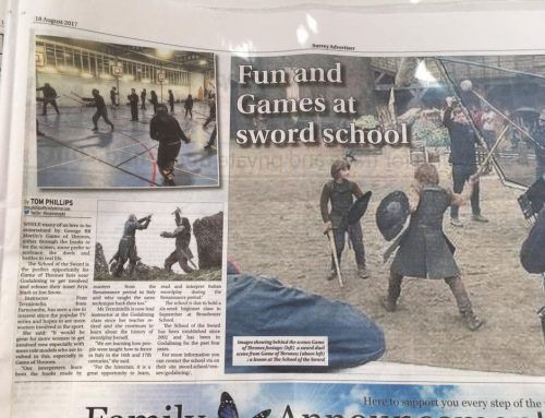 The School Of The Sword Makes Local Newspaper